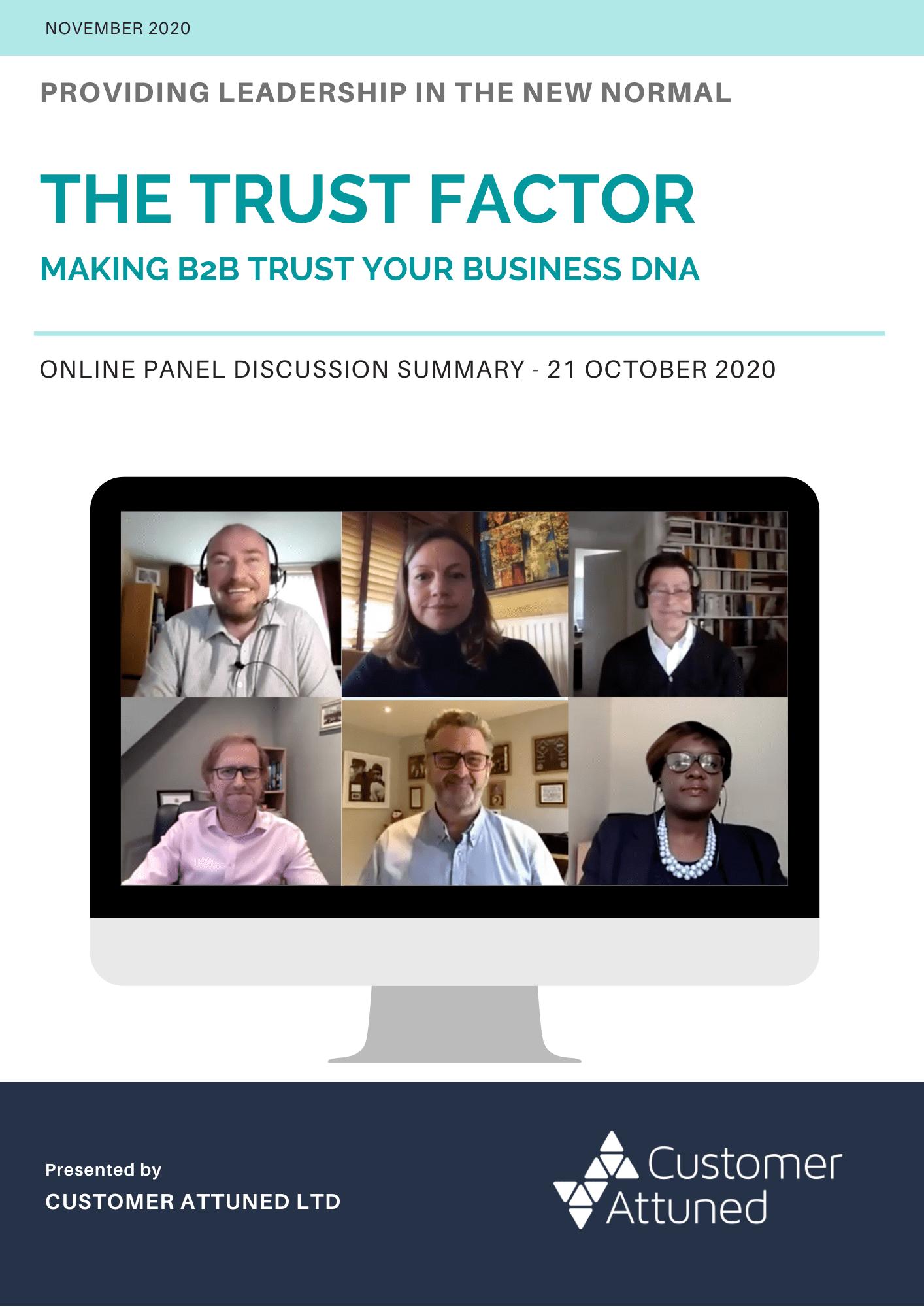 The Trust Factor - Panel Summary