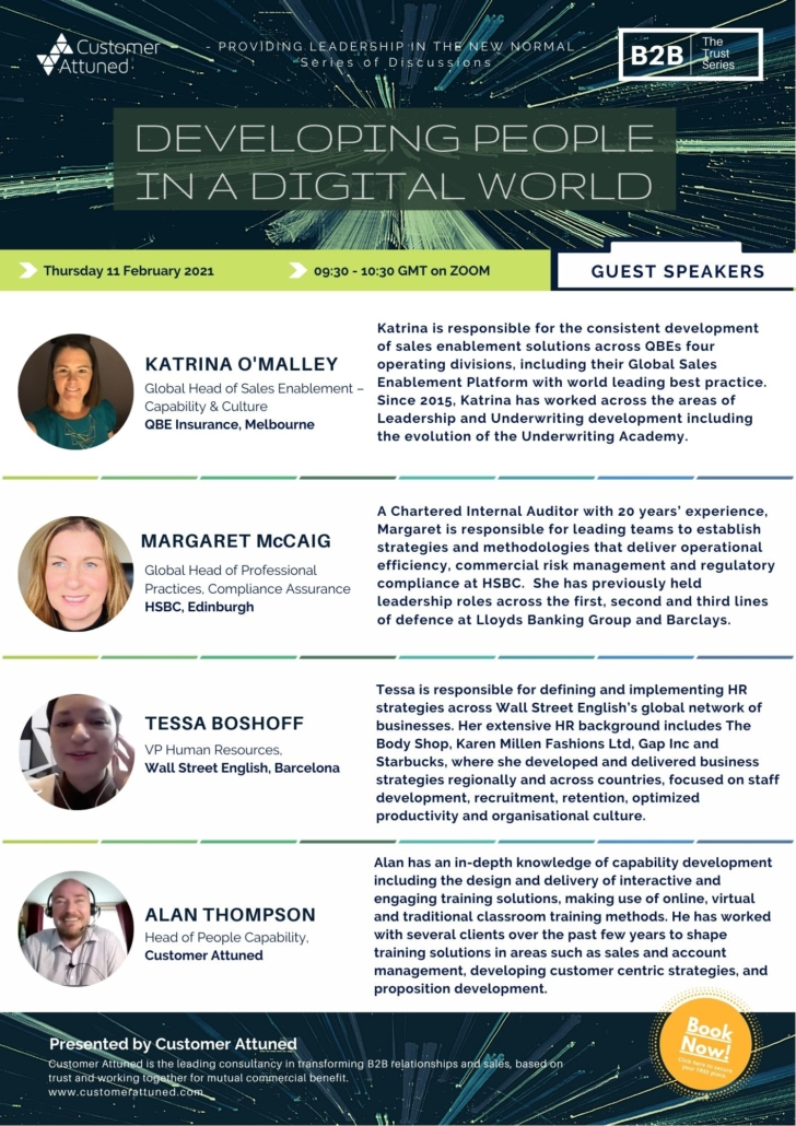 Meet the speakers for Developing People in a Digital World