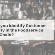 Customer Centricity in the Food service supply chain